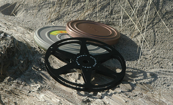 film reels on the beach-858 x 357