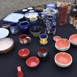 Table top of ceramics